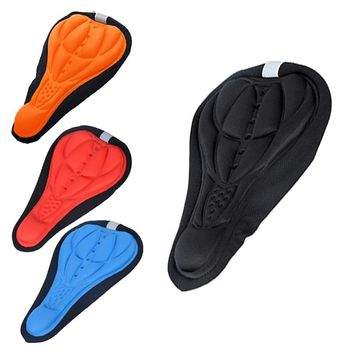 Hot Bicycle Saddle Cycling Bicycle Bike Silicone Saddle Seat Cover Silica Gel Cushion Soft Pad EA14