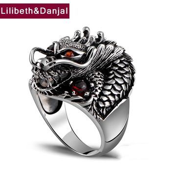 Thai Dragon Ring - 925 Sterling Silver - Fine Jewelry