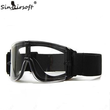 SINAIRSOFT USMC Airsoft X800 Hunting Military Glasses Tactical Goggle Eyewear Wind Protection Hiking Glasses Sunglasses 3 Lens