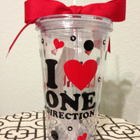16oz Personalized One Direction Tumbler