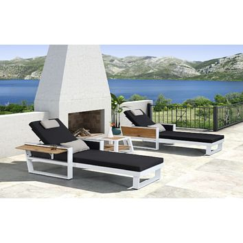 2 Sun Chairs + 1 Side Outdoor Table | Higold York
