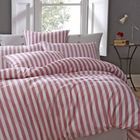 Buy Jigsaw Newquay Stripe Duvet Cover, Rose online at JohnLewis.com - John Lewis