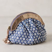 Eyelet Garden Pouch by Miss Albright Blue All Clutches
