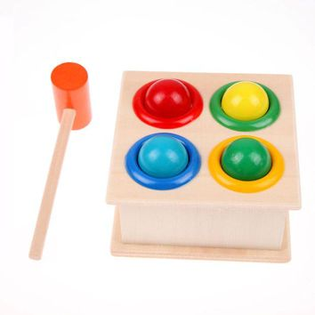 VONC1Y Hammering Wooden Toys Hammer Ball Box Children Early Learning Educational Toys
