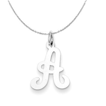 Sterling Silver, Sophia Collection, Small Script Initial A Necklace