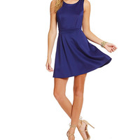 Teeze Me Strappy Cut Out Back Scuba Dress | Dillards