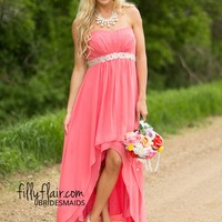 Remember the Occasion Bridesmaid in Coral