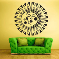 Wall Decal Vinyl Sticker Decals Crescent Sun Moon Funny (z1387)