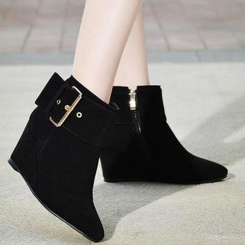 Pointed Toe Wedges Boots Women Shoes Fall|Winter 7926