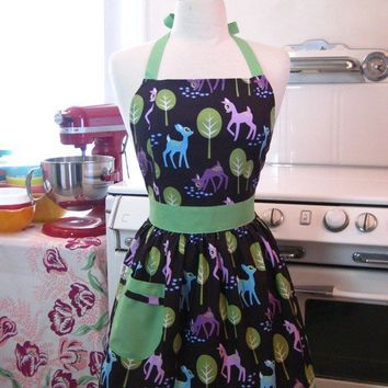 The CHLOE Vintage Inspired CUTE Bambi Deer Full Apron by Boojiboo
