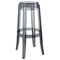 Philippe Starck Style Ghost Bar Stool in Smoke
