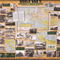 World War II Europe and North Africa History Poster 24x36
