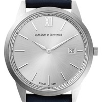 Larsson & Jennings 'Saxon' Leather Strap Watch, 39mm | Nordstrom