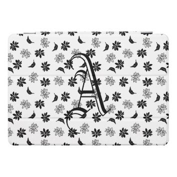 Initials In Flowers iPad Pro Cover