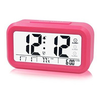 ZHPUAT Three Rings Morning Alarm Clock,Low Light Sensor Technology,Light On Backligt When Detect Low Light,Soft Light That alarm Wake You Up Softly. Pink