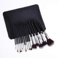 High Quality Leather 15pcs Make up Cosmetic Brushes