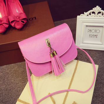Korean Stylish Casual Bags Tassels Shoulder Bags [6583160135]