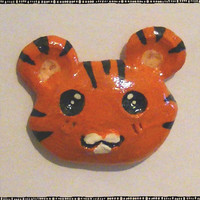 Cute Tiger Head Polymer Magnet