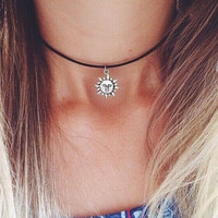 Sun necklaces for women/girls new arrival fashion jewelry daily chokers necklace pendants + gift box