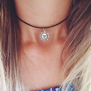 Sun necklaces for women/girls new arrival fashion jewelry daily chokers necklace adjustable+ Gift Box