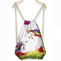 3D Unicorn Drawstring Bag / Backpack