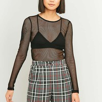 Light Before Dark Long Sleeve Fishnet Top | Urban Outfitters