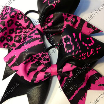 Set of Big/Lil sis bows. 3 inch custom cheer bows