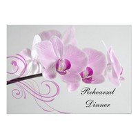 Pink Orchid Elegance Wedding Rehearsal Dinner