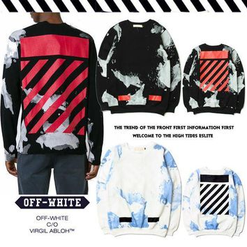 PEAPGZ9 OFF WHITE Pullover Stripes Hoodies [11501029004]