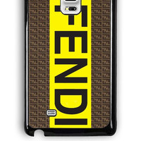 Samsung Galaxy Note Edge Case - Hard (PC) Cover with fendi logo Plastic Case Design