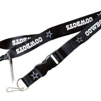 NFL Dallas Cowboys Lanyard Keychain Keyring Badge Holder Licensed Breakaway