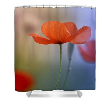 Miss Poppy Shower Curtain