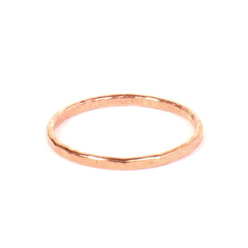 Skinny Ring in Copper Hammered Wire