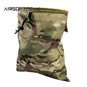 DCCK7N3 Military Molle Belt Tactical Magazine Dump Drop Reloader Pouch Bag Utility Hunting Magazine Pouch Airsoft Accessory Hunting Bag