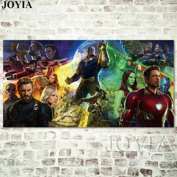 """Avengers Infinity War Poster Marvel Movie Poster Superheroes Film Picture Large Size Hero Canvas Wall Art Heroes Prints 28x56"""""""