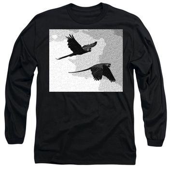 Parrots Drawing - Long Sleeve T-Shirt