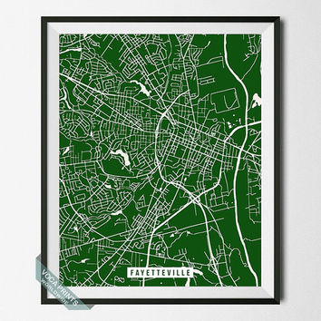 Fayetteville Print, North Carolina Poster, Fayetteville Street Map, North Carolina Print, Home Decor, Wall Art, Back To School