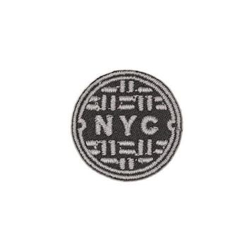 NYC Sewer Cover Mini Sticker Patch
