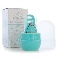 Solavae Newborn, Baby, Infant and Toddler Grooming Kit - The Best Unique Baby Shower Gift for Girls and Boys (Teal)