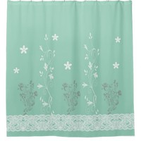 Shower Curtain, floral Shower Curtain