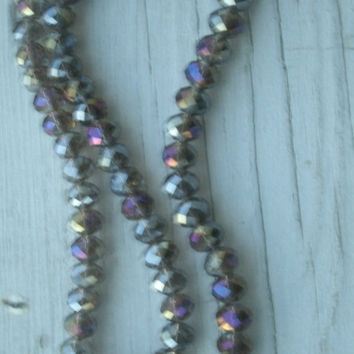 Swarovski CrystalBead Strand - Amethyst Purple AB color,72 beads, full strand,  beads, crystal beads, faceted, bead supply, jewelry supply