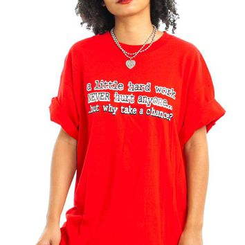 Vintage 90's Hard Work Tee - One Size Fits Many