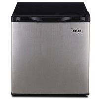 Della Compact Mini Refrigerator & Freezer, 1.6 Cubic Feet, Stainless Steel | Overstock.com Shopping - The Best Deals on Refrigerators