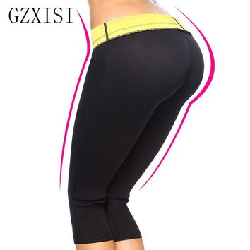 2015 HOT Control Panties !Super Stretch Neoprene Slimming Pants Body Shapers thermo legging,sporty capris-L hot pants TV