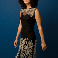 Embellished Flapper Dress in Black - Roman Originals UK