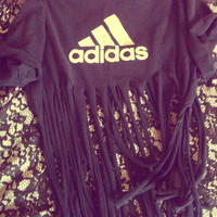 Vintage 1980's Fringed Adidas Summer Beach Top