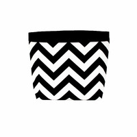 Car Headrest Caddy ~ Black Chevron