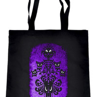 Haunted Mansion Wallpaper Ghoul Tote Book Bag Dark Alternative Clothing Handbag