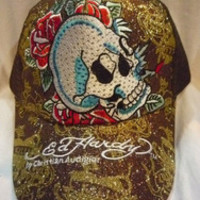 Vogue ed hardy hat cap Love Kills Slowly Skull Face red heart embroidered rhinestone for men women edhardy free shipping