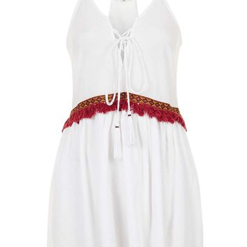 **Tassle Embroidered Cami Dress by Glamorous Petites - Topshop